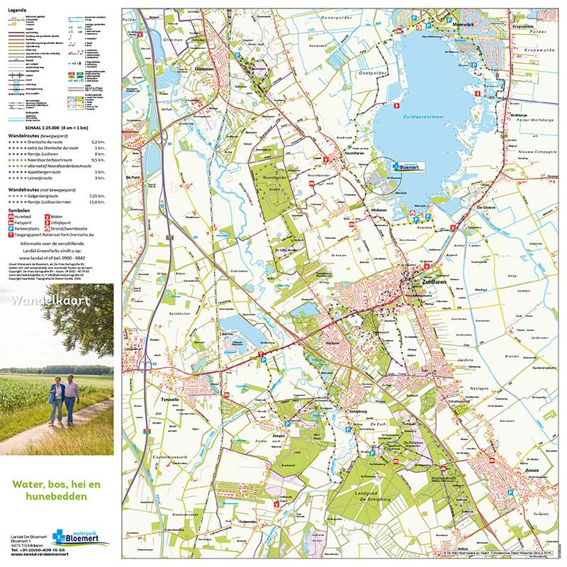 Wandelkaarten En Fietskaarten Landal Waterpark De Bloemert De